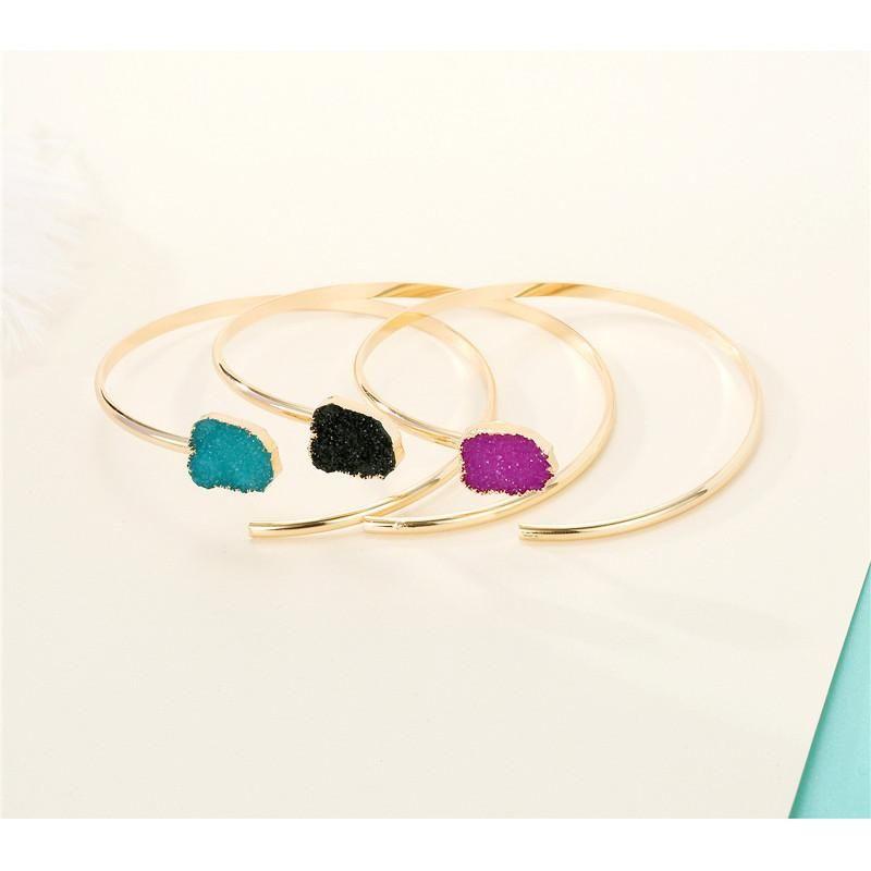 Womens Geometric Plastic Resin Irregular opening  Bracelets amp Bangles GO190430119946