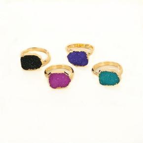 Womens Round Plastic Resin Irregular alloy plating  Rings GO190430119953
