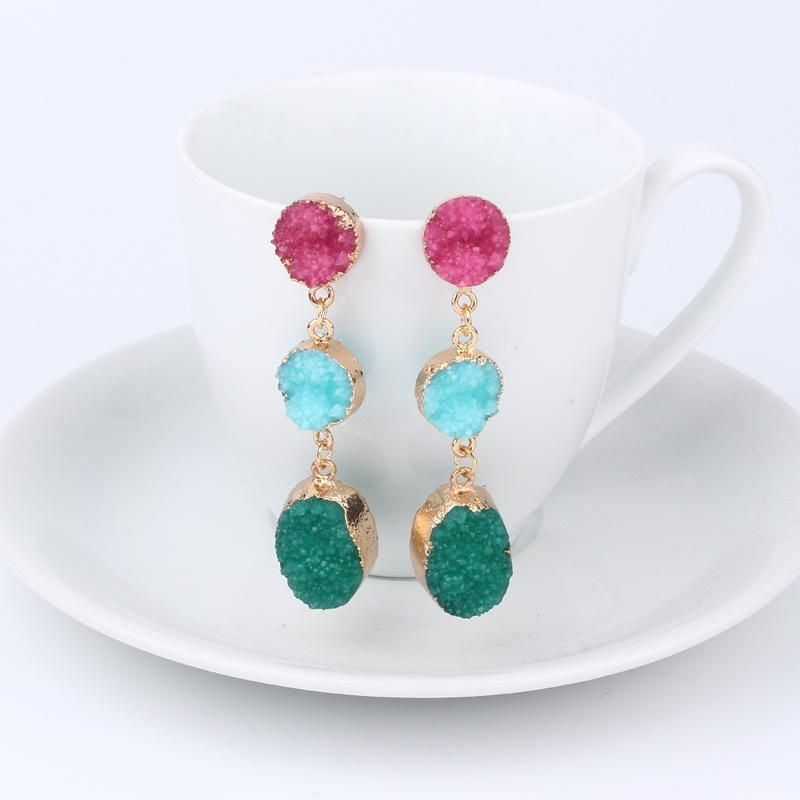 Womens Geometric New product oval Plastic Resin Earrings GO190430119959
