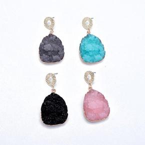 Womens Geometric  Beautiful personality Plastic  Resin Earrings GO190430119967