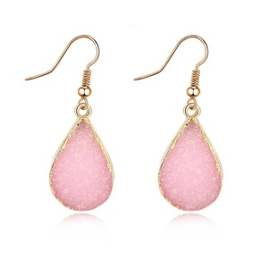 Womens teardrop plastic resin Retro water drop  Earrings GO190430119968