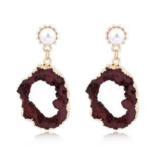 Womens Irregular Plastic  Resin Irregular hollow resin  Earrings GO190430120002's discount tags