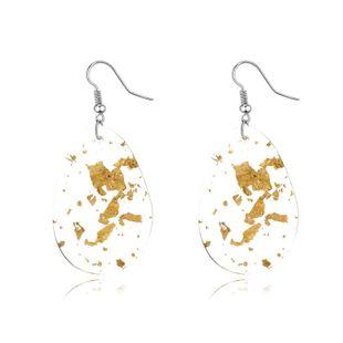 Womens Elliptical  Personality irregular creative retro Acetate Earrings GO190430120009's discount tags