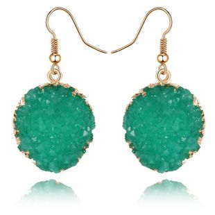 Womens Round Plastic  Resin Imitation natural stone round  Earrings GO190430120011's discount tags