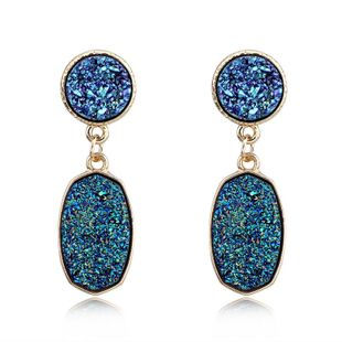 Womens Oval Plastic  Resin  Fine resin oval Earrings GO190430120015's discount tags