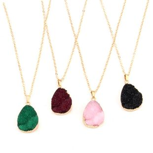 Womens Geometric PlasticBeautiful and simple imitation natural stone  Resin Earrings GO190430120018's discount tags
