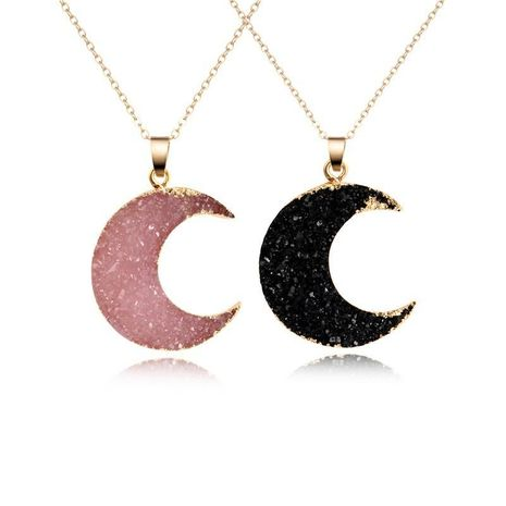 Womens Moon Sexual simplicity imitation of natural stone moon Necklaces GO190430120020's discount tags