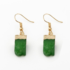 Womens Rectangular Plastic Exquisite personality like natural stone  Resin Earrings GO190430120021