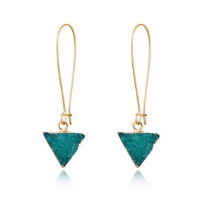 Womens Triangle Plastic Long triangle Resin Earrings GO190430120022