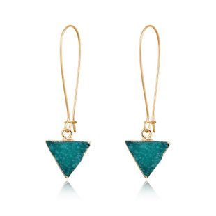 Womens Triangle Plastic Long triangle Resin Earrings GO190430120022's discount tags