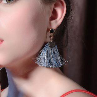 Womens Fringe Rhinestone tassel line  Alloy Earrings QD190430120038's discount tags