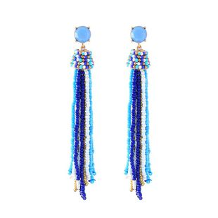 Fashion style Womens Fringe Rhinestone Alloy Earrings QD190430120039's discount tags