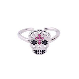 Womens enamel  Taro drill rhinestones Rings QD190430120049's discount tags