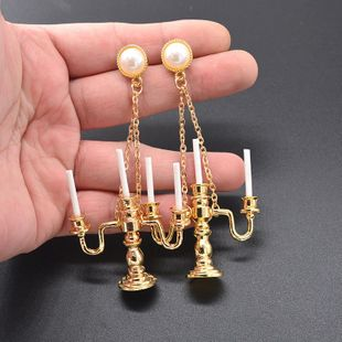 Womens Geometry Electroplating Alloy Earrings NT190430120070's discount tags