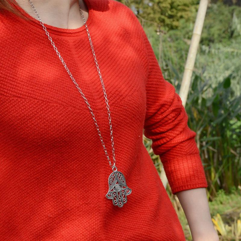 Collares de aleación de acero exagerado retro para mujer. XR190430120071
