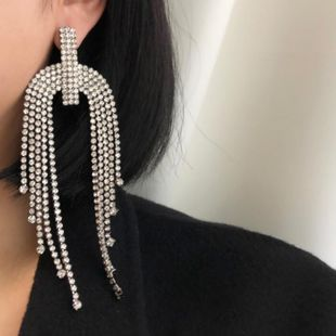 Womens Geometry Electroplating Alloy Earrings NT190430120077's discount tags