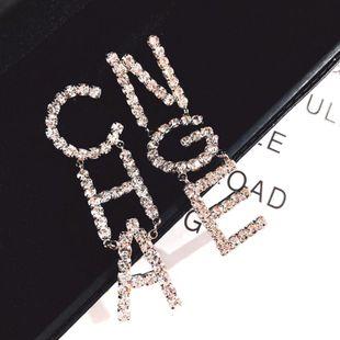 Womens Geometric Rhinestone Earrings NT190430120088's discount tags
