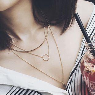 Womens geometric plating alloy Necklaces MS190430120098's discount tags