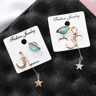 Womens Star Plating Alloy Earrings MS190430120101's discount tags