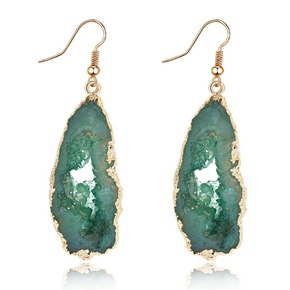 Womens Irregular Plastic  Irregular hollow  Resin Earrings GO190430120114