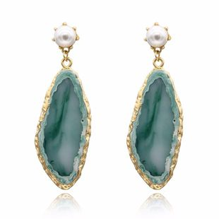 Womens Geometric Long imitation agate  Earrings GO190430120117's discount tags