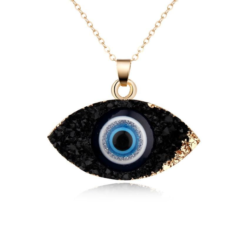 Unisex Eye Natural stone resin Necklaces GO190430120123