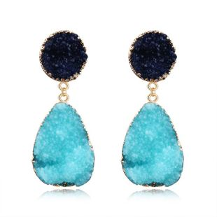 Womens Geometric Plastic Natural stone  Resin Earrings GO190430120125's discount tags