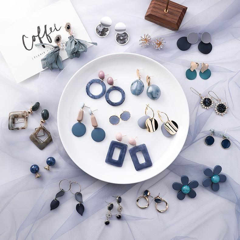 Aretes de aleación de chapado geométrico de las mujeres MS190430120126