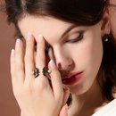 Womens Swallow Cute little swallow with rhinestones  Rhinestone Alloy Rings QD190430120047