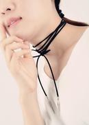 Womens dyed velvet Fashion multicolor butterfly velvet tassel  Choker XR190430120065