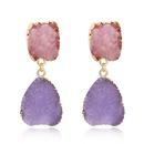 Womens Geometric Plastic  Imitation natural stone Resin Earrings GO190430120115