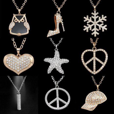 Mens geometric rhinestone alloy ocesrio Necklaces NHAS120817's discount tags
