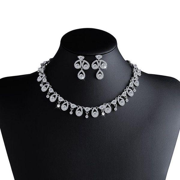Womens Rhinestone Alloy Jewelry Sets NHAS120859