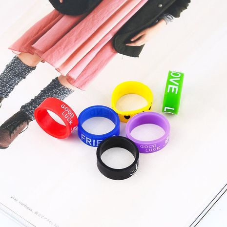 Unisex Geometry Silicone Soaring Rings NHAS120884's discount tags
