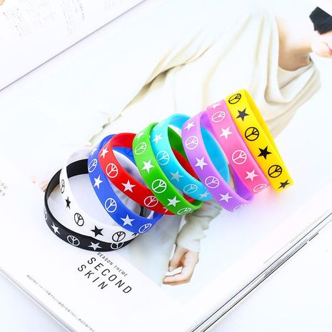 Unisex Geometric Silicone Sports Series Bracelets & Bangles NHAS120890's discount tags