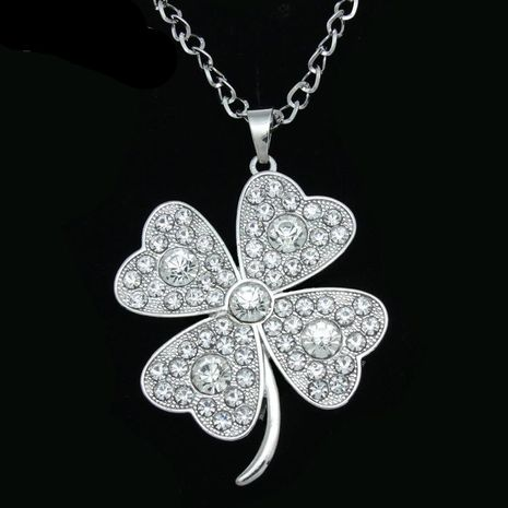 Womens Floral Electroplating Alloy Necklaces NHAS120894's discount tags