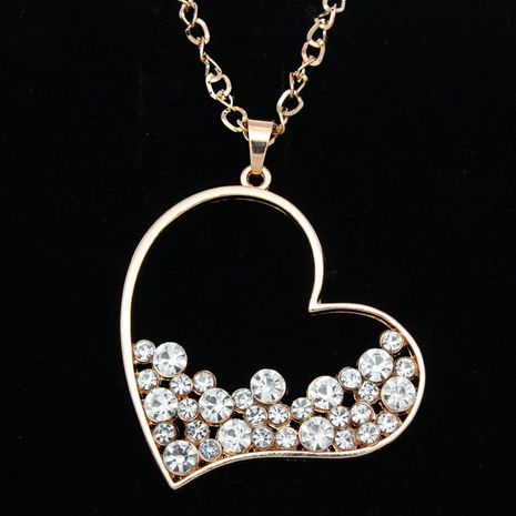Womens heart-shaped electroplated alloy Necklaces NHAS120910's discount tags