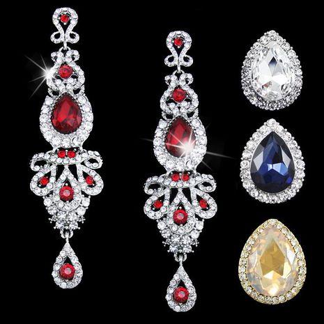 Womens rhinestone-encrusted alloy ocesrio Earrings NHAS120916's discount tags