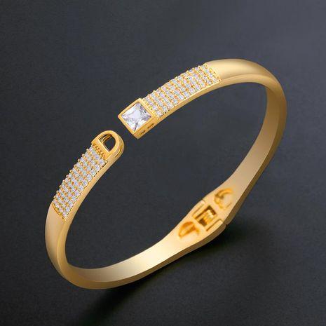 Womens geometric inlaid zircon copper Bracelets & Bangles NHAS120922's discount tags