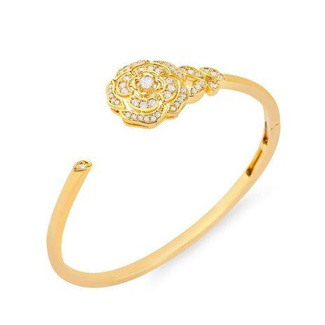 Womens Floral Zircon Copper Bracelets & Bangles NHAS120923's discount tags
