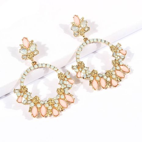 Womens Floral Plating Alloy Earrings NHMD120925's discount tags