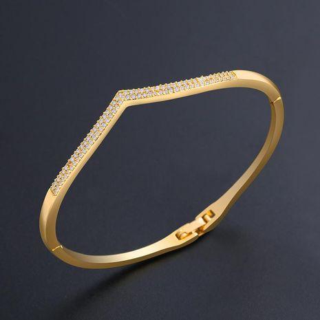 Womens Heart-Shaped Zircon Copper Bracelets & Bangles NHAS120931's discount tags