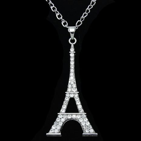 Unisex Eiffel Tower  other rhinestone-studded alloy Rhinestone hollow necklace  NHAS120933's discount tags