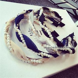 Childrens Beads rhinestone chiffon intertwined  Hair Accessories NHOF120947's discount tags
