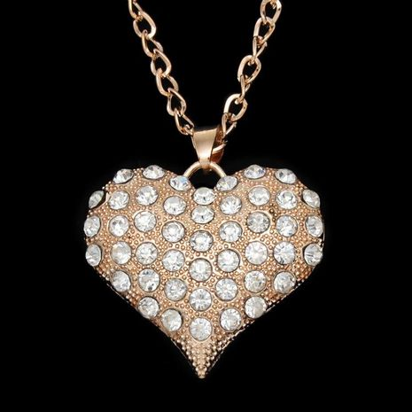 Womens heart-shaped rhinestone alloy ocesrio Necklaces NHAS120948's discount tags
