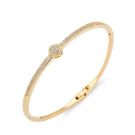 Womens geometric inlaid zircon copper Bracelets & Bangles NHAS120952's discount tags
