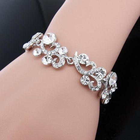 Womens Wave Rhinestone Alloy Bracelets & Bangles NHAS120961's discount tags