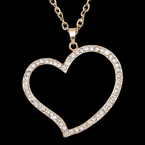 Womens geometric rhinestone alloy Necklaces NHAS120968's discount tags