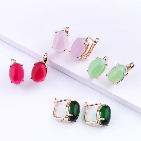 Womens Geometry Electroplating Alloy Earrings NHAS120972's discount tags