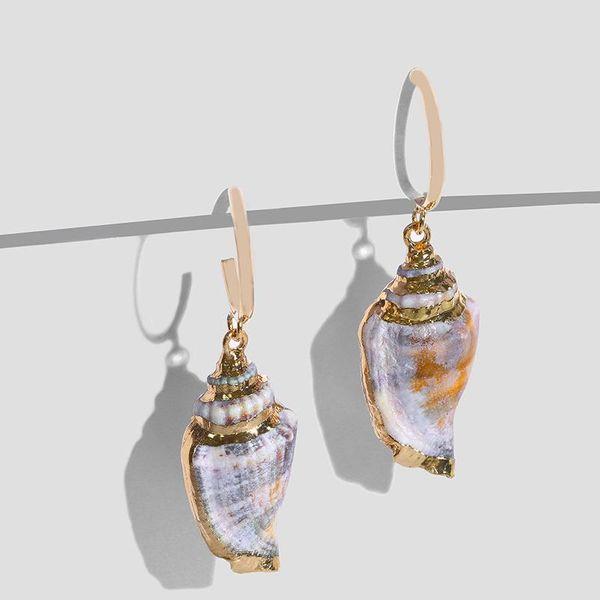 Womens Conch Sea Shell Seashell Other Earrings NHAS120975